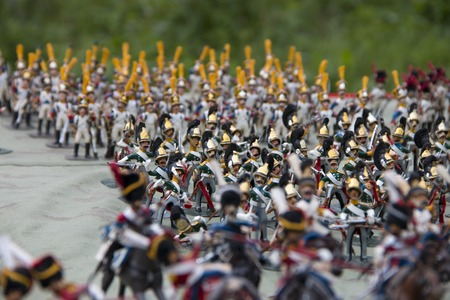 exclusive photo: Photo exclusive figures of soldiers of the 19th century handmade closeup