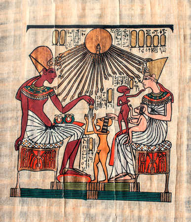 horus: pergamino antiguo Egipto