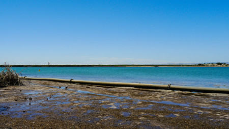 water-supply channel south of Adelaide in Australia in January 2017