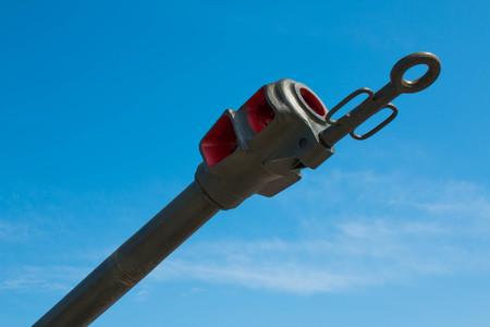 Fire arrester on a blue sky background 2017