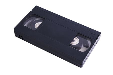 information medium: Video cassette isolated on white background. Video cassette