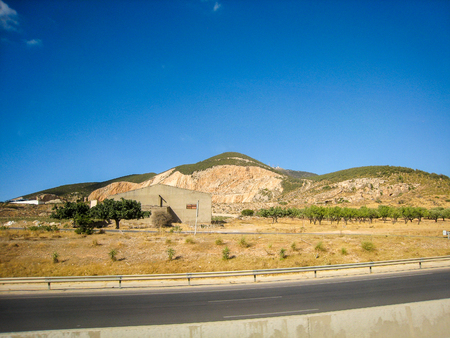 Beautiful view of the landscape in Tunisia July 2013