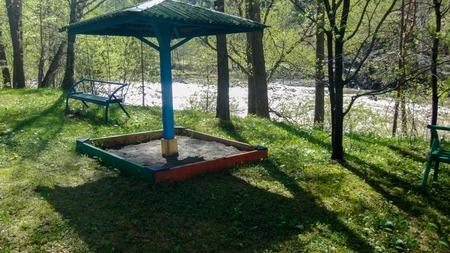 Tourist base in the Altai Mountains. Siberia Russia. Landscape