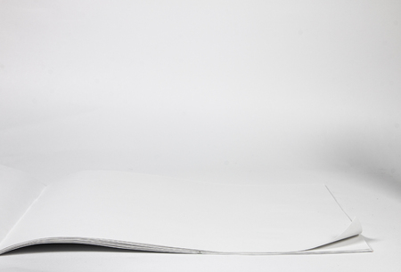 a clean sheet of sketch pad on a white background