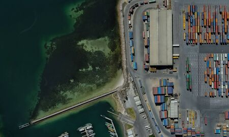 cargo port of Adelaide, Australia on the Gulf of St. Vincent