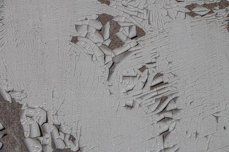 texture of old light paint peeling off the wood surface Stok Fotoğraf