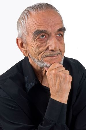 Elderly the man, dreaming photo
