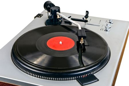 Old vinyl player  Stock Photo - 6628558