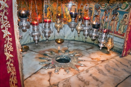 greatest Christian shrine, a cave in the rock where Jesus Christ was born of the Virgin Mary.