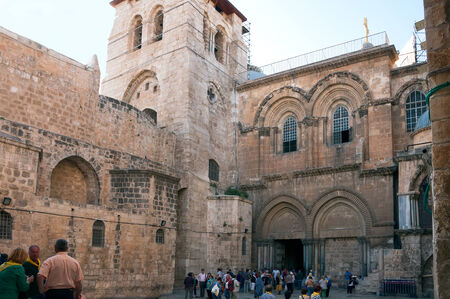 sepulcher: facade of the church of the Holy Sepulchre