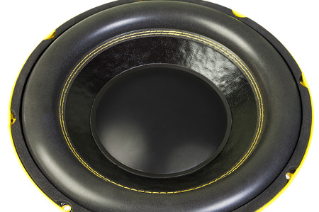 loud speaker: Great loud speaker isolated on white background