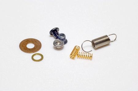 taller: tornillos, arandelas, muelles Stock Photo