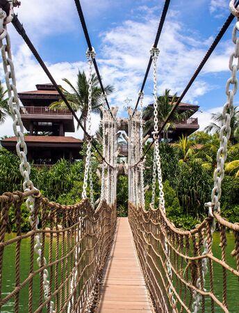 rope bridge: rope bridge to tower