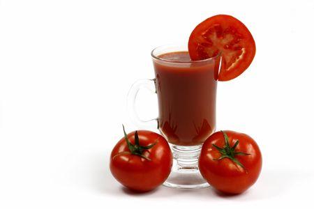 jugo de tomate: El zumo de tomate  Foto de archivo