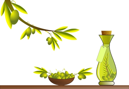 foglie ulivo: Olio d'oliva