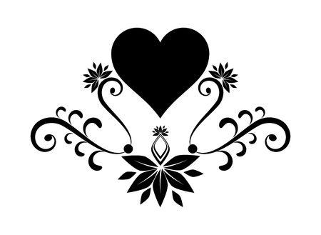 flora vector: Heart