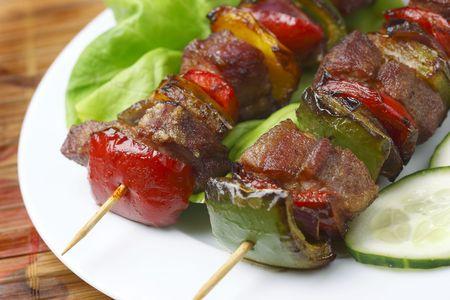 shish: Fried skewers Stock Photo