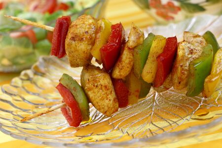 Chicken skewers photo