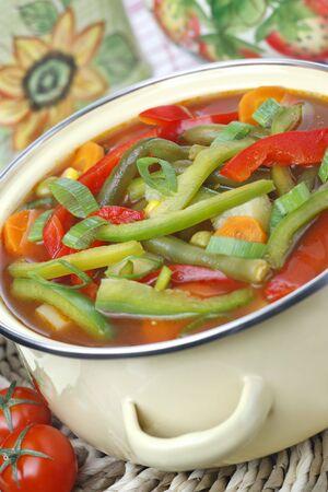 Diet vegetable soup photo