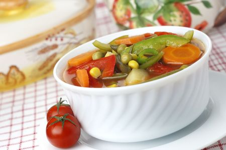 Diet vegetable soup photo