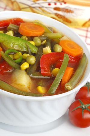 Diet vegetable soup Stock Photo - 7619629