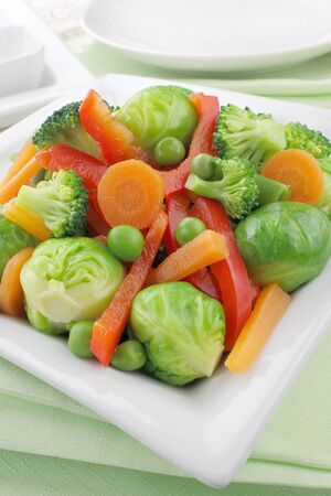 Cooked vegetables  photo