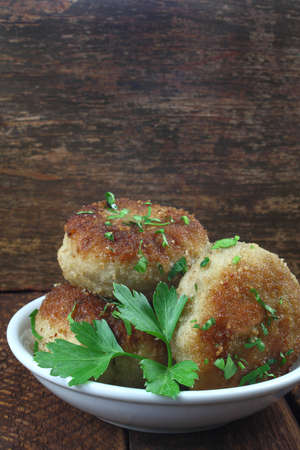 cutlets: chicken cutlets Stock Photo