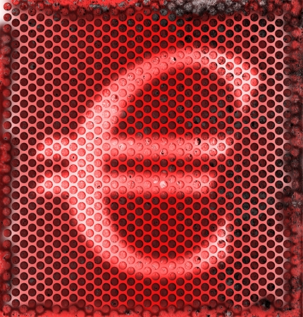 money to burn: Burned Metal Abstract Background of Euro Currency Symbol  Stock Photo