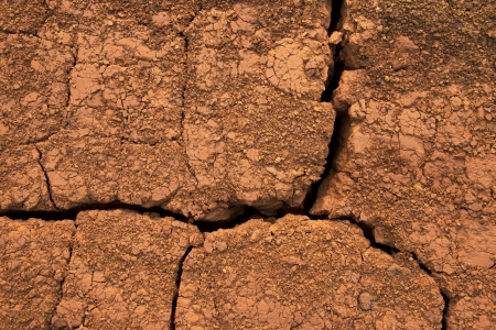 caused: Ground red cracks caused by dehydration  pattern   background