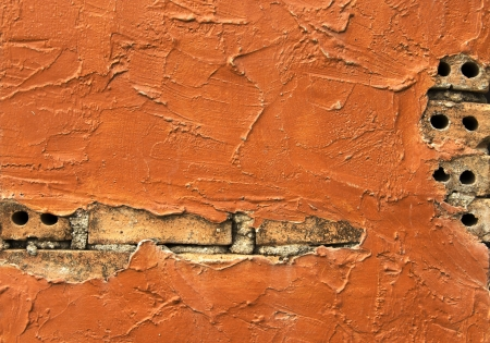 protrude: Texture background of auburn brick wall