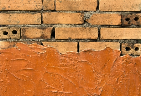 Texture background of auburn brick wall  photo