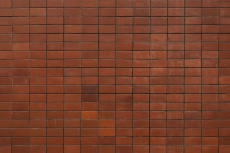 Pattern background of red brown brick wall  photo