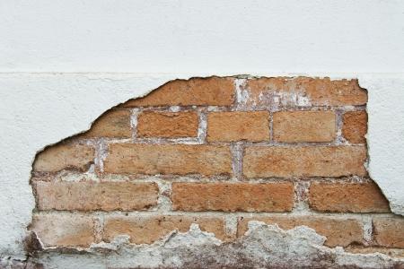 plaster wall: Patr�n de fondo de la vieja pared de yeso desintegraci�n Foto de archivo