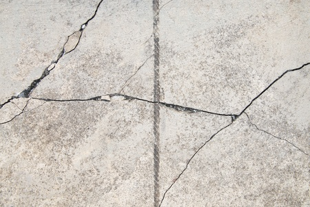 Texture background of cracked concrete ground  photo