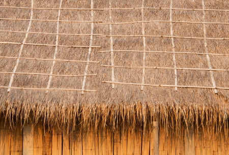thatched house: Pattern background of thatched roof made   from natural materials  Stock Photo