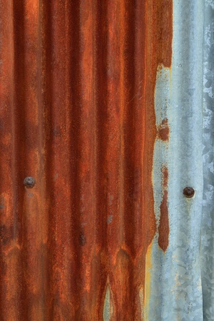 unruffled: Abstract background of old rusty zinc wall