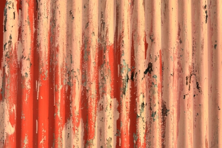 disintegration: Abstract background of old zinc painted red wall disintegration  Stock Photo