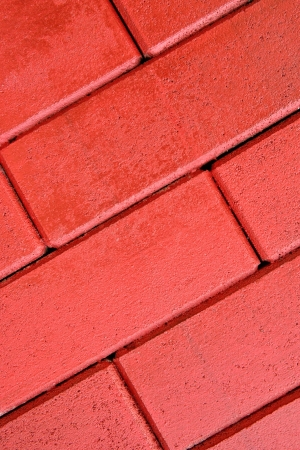 grooves: Pattern background of red cement block walls