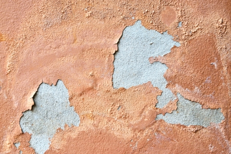 disintegration: Abstract background of grunge concrete painted brown wall disintegration  Stock Photo