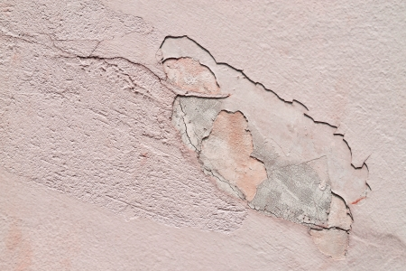 disintegration: Abstract background of grunge concrete painted pink wall disintegration
