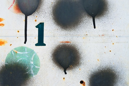 Pattern background of number 1   black point spray on score bar of petanque Stock Photo - 20777810