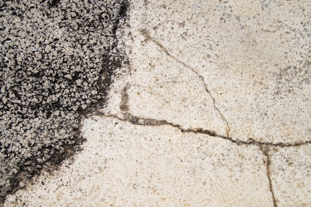 Texture background of cracked concrete road ground Stock Photo - 20777784