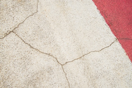 Texture background of cracked concrete road ground  photo