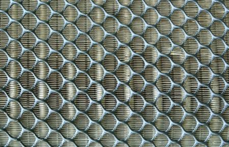 Aluminum fins of heat exchange unit of air conditioner  Zdjęcie Seryjne
