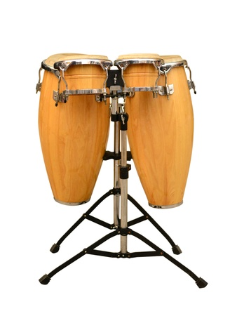 Conga drum set on white background