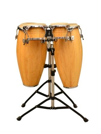 toca: Conga drum set on white background