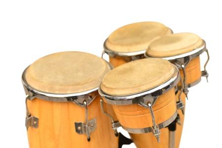 Conga drum set on white background