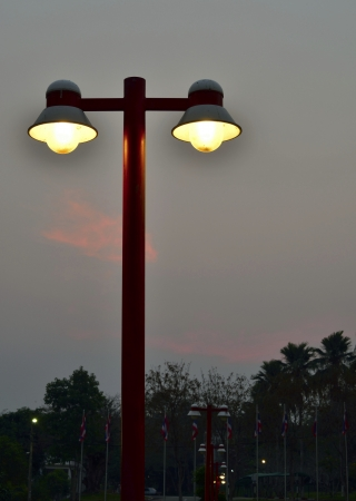Street lamp with twilight background  photo