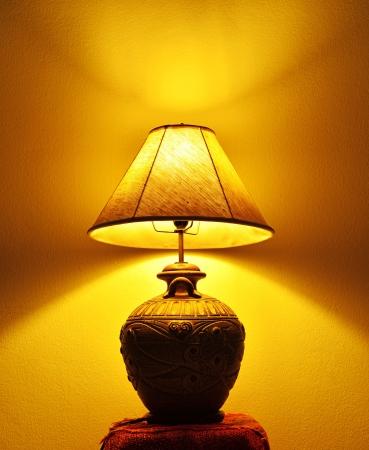 A beautiful lamp shining  photo