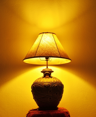 turn off: A beautiful lamp shining